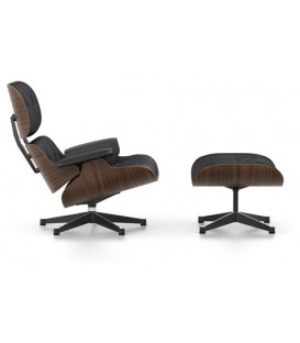 Lounge Chair & Ottoman. Nogal Pigmentado Negro