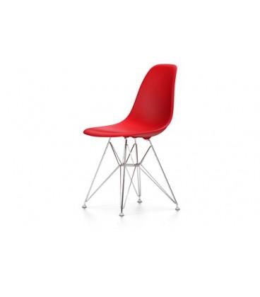 Eames Plastic Chair DSR. Base de hilo de acero con traviesas
