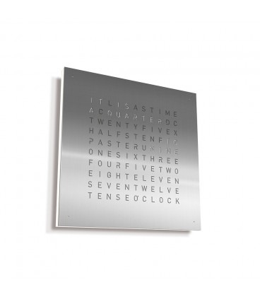 Qlocktwo Classic Stainless Steel 45x45cm