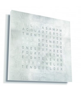 Qlocktwo Classic Creator's Edition Platinum 45x45cm