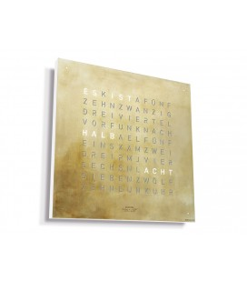 Qlocktwo Large Creator's Edition Silver & Gold 90x90cm